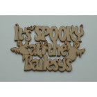 It's SPOOKY at the... Add surname Halloween hanging sign (with holes)