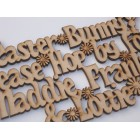 Easter Bunny, Please hop by for....... Add Children's names Easter hanging sign (with holes)