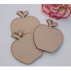 Hanging Apple shapes  MDF Perfect for Teachers