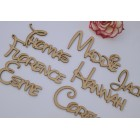 Personalised MDF Wooden Words / Names in Disney Font - per LETTER laser cut