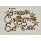 ... Christmas Eve Box Stars Disney Font Personalised Application