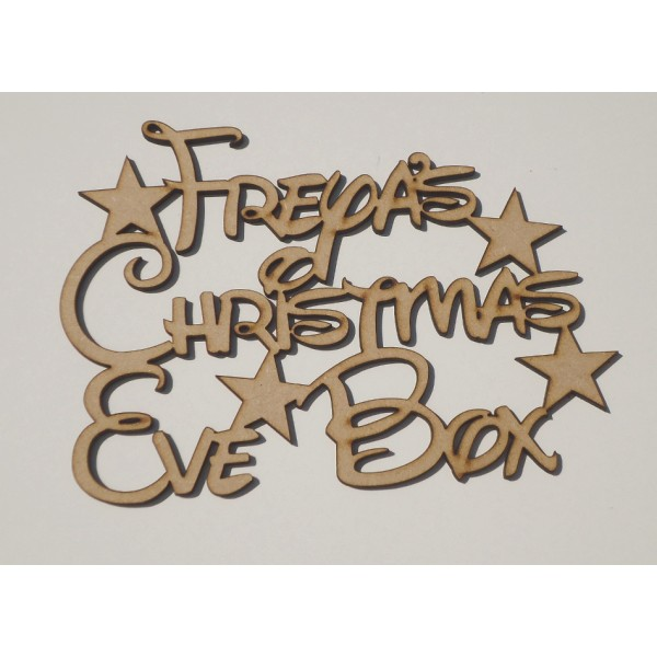 Christmas Eve Box Stars Disney Font Personalised Application