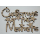 Christmas at the... Add surname Disney Font Christmas hanging sign (with holes)