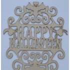 Happy Halloween hanging sign (with holes) LARGE