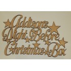 ... Night Before Christmas Box Stars Personalised Application