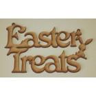 Easter Treats Hanging MDF Laser sign /plaque