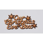 Our Christmas Eve Box snowflakes Topper Embellishment