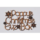 ... Christmas Eve Box Snowflakes Personalised Topper Application Harr