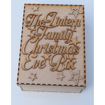 The Surname Family Christmas Eve Box with or without personalised Topper with Stars
