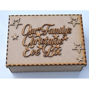 Christmas Eve Box / Memory Box Our Family Christmas Eve Box Topper