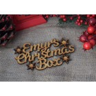 ... Christmas Box Snowflakes Personalised Application Topper
