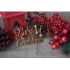 Baby's 1st Christmas Tree Decoration Hanging Sign
