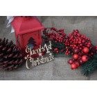 ... 1st Christmas Personalised Tree Decoration Hanging Sign