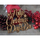 ... Christmas Day Box Stars Personalised Topper