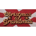 Christmas at ... Add surname Christmas hanging sign (with holes)