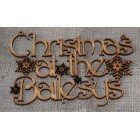 Christmas at the...  Add surname Christmas hanging sign Harr (with holes)